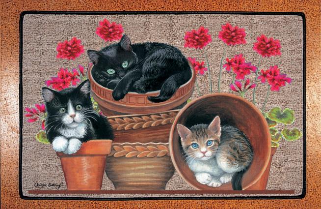 Cats Shop Fussmatte Katzen Trio Flowerpotz